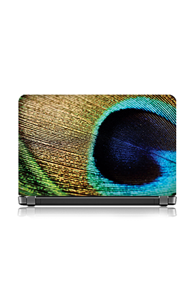 Cutomised Peacock Feather Laptop Skin