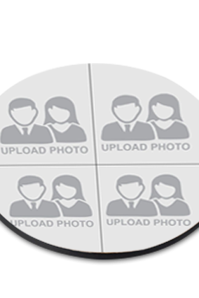 Upload Your Photo Round Printed Coaster