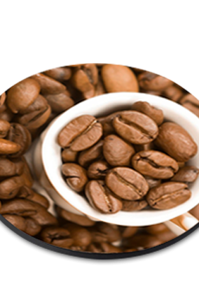 Coffee Beans Round Printed Coaster