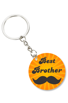 Best Brother Round Shape Key Chain