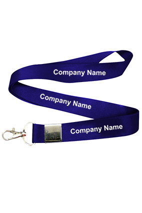 Company Name Royal Blue Lanyard