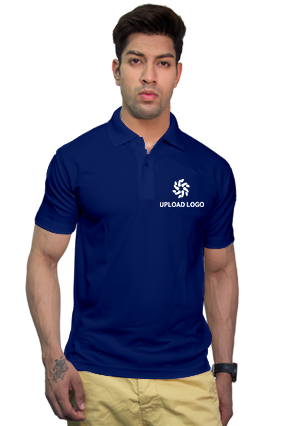 160GSM - Create Your Own Royal Blue Collar Dry-Fit T-Shirt