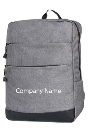 Slimz Gray Backpack With Double Front Pocket By Castillo Milano-s07