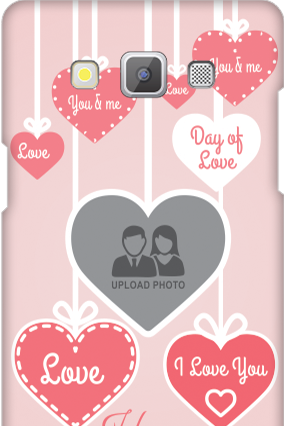 Customized Samsung Galaxy A5 2015 Pink Heart Anniversary Mobile Cover