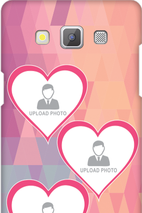 Customised Samsung Galaxy A5 2015 Pinkish Photos Heart Mobile Cover