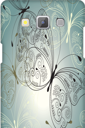 Customized Samsung Galaxy A5 2015 Elegant Butterfly Mobile Cover