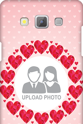 Samsung Galaxy A5 2015 Pink Hearts Valentine's Day Mobile Cover