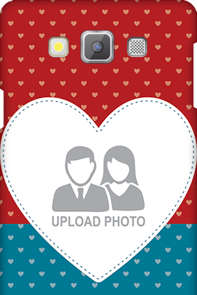 Samsung galaxy A7 Colorful Heart Valentine's Day Mobile Cover