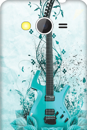 Samsung Galaxy Core 2 Blue Guitar Mobile Cover