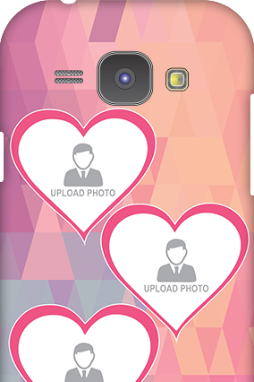 Samsung Galaxy J1 Pinkish Heart Mobile Cover