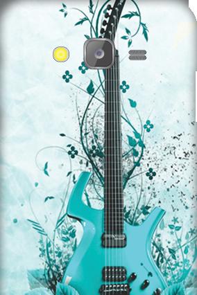 Silicon-Samsung Galaxy J5 Blue Guitar Mobile Cover