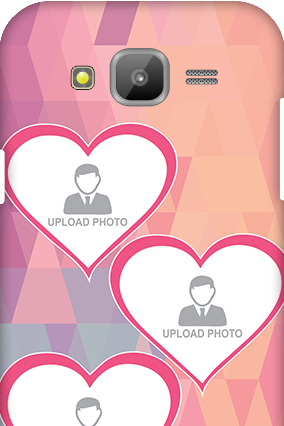 Samsung Galaxy J5 Pinkish Heart Mobile Cover