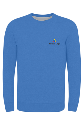 Customized Upload Logo Blue Seven Sweatshirt