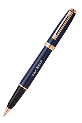 Sheaffer 9143 Prelude Cobalt Gold Trim Roller Ball Pen