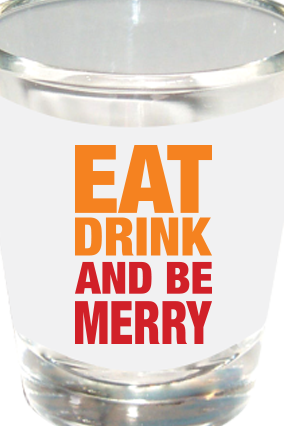 Be Merry Shot Glass