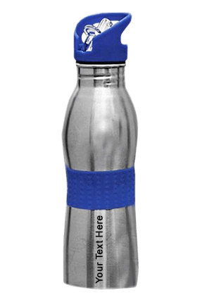 Sippon-35 Curved Bottle With Rubber Grip Blue