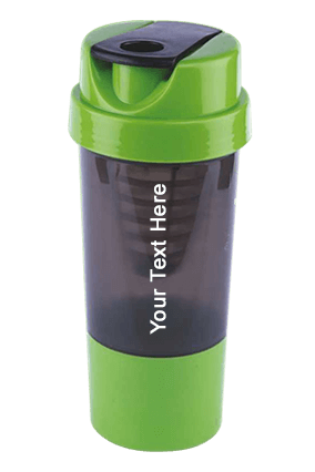Sippon-5005 Sports Cyclone Gym Protien Shaker Bottle Grey With Green