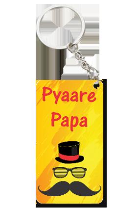 Pyaare Papa Small Rectangle Key Chain