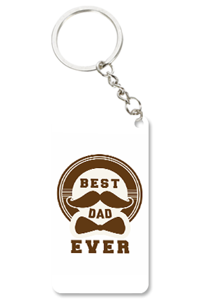 Best Dad Ever Small Rectangle Key Chain