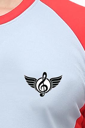 Effit Music Grey Red T-Shirt