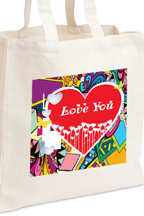 Animated Love Valentine Day Tote Bag