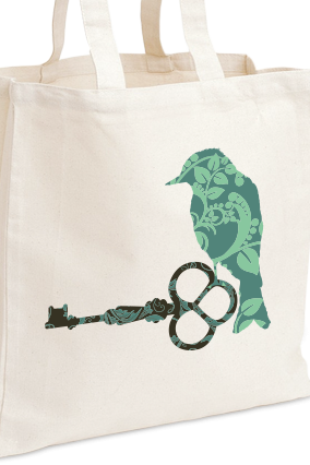 Amazing Green Bird Tote Bag