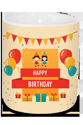 Bubbled Birthday Tea Mug