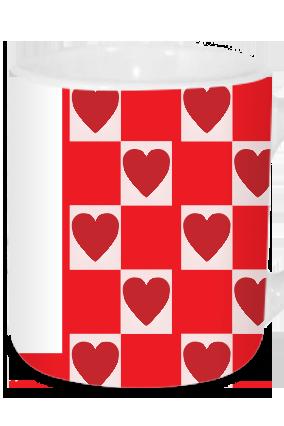 Patterned Valentine's Day Tea Mug
