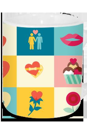Artful Valentine's Day Tea Mug