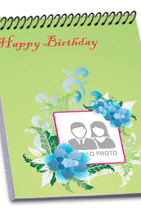 Customize Birthday Wishes Top Spiral Notebook