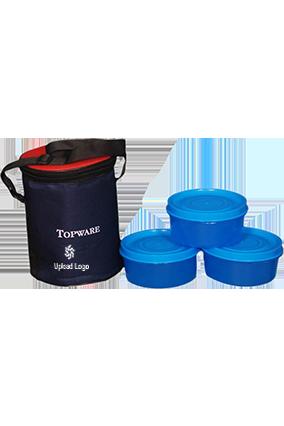 Upload Logo Topware 3 Container Virgin Plastic Lunch Box