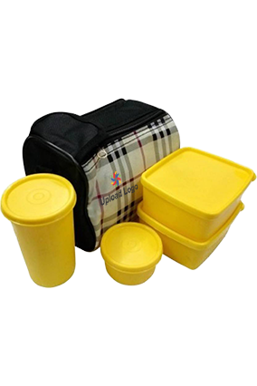 Upload Business LogoTopware Checkprint 4 Containers Lunch Box