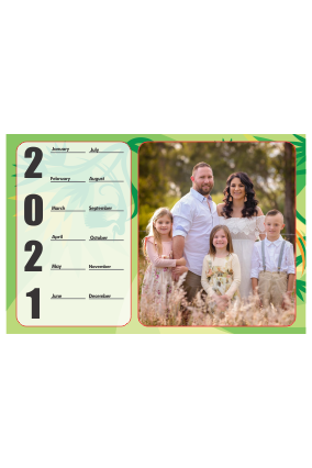 Green Theme Poster Photo Calendar