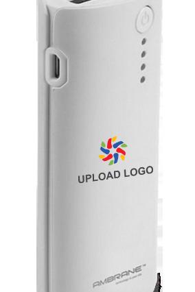 Upload Logo 5200mAh Ambrane Power Bank White