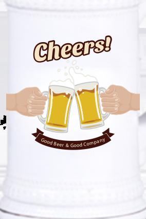 Cheers Vintage Beer Mug