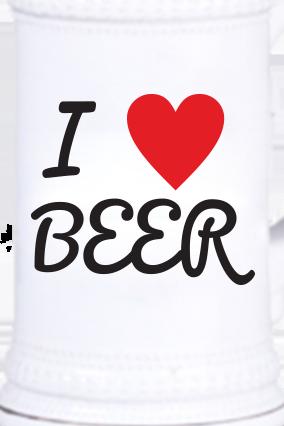 Love Beer Vintage Beer Mug