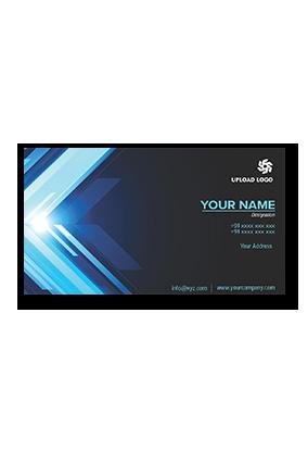 Elegant Black and Blue Magnetic Business Card