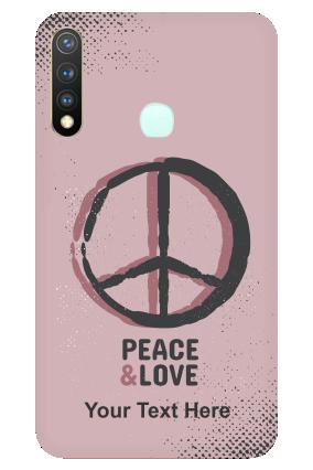 Vivo Y19 - Peace & Love Designer - Mobile Phone Cover
