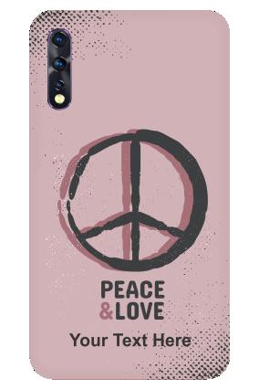 Vivo Z1x - Love & Peace Designer - Mobile Phone Cover