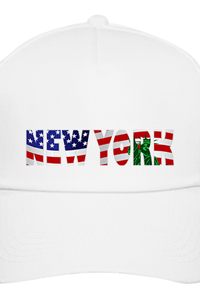 Custom New York White Cap