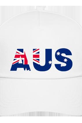 Customized Aus White Cap