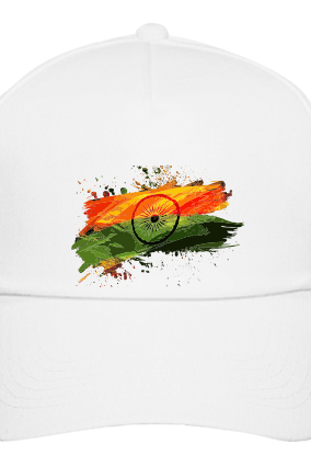 White Patriotic Cap