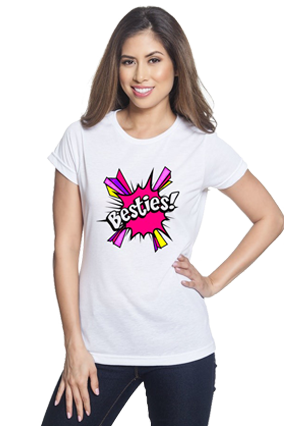 Besties White Round Neck Drifit Dot Net Sports Half Sleeve Girls T-Shirt