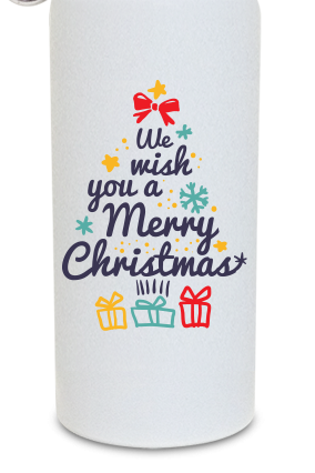 Christmas Fever 600ml White Sipper