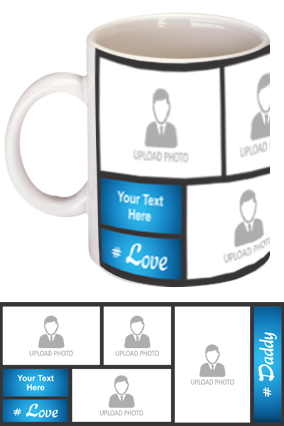 Blue Personalized Father's Day Exclusive Bone China Mug