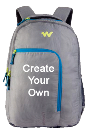 Create Your Own Wildcraft Doyen Grey Laptop Backpack