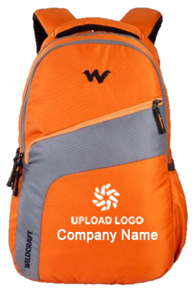 Upload Logo Wildcraft Virtuso Orange Laptop Backpack
