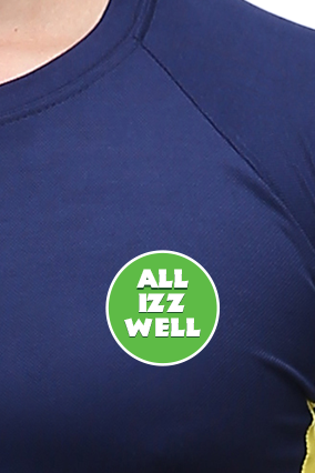 Effit All Is Well Navy and Yellow T-Shirt