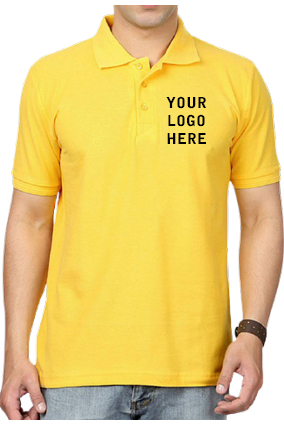 Matty-160GSM - Create Your Own Yellow Collar T-Shirt