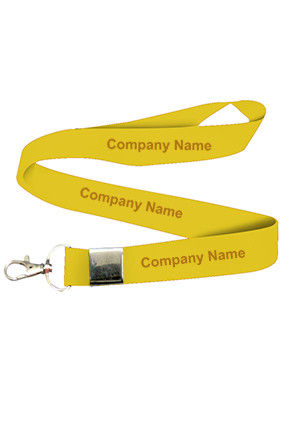 Company Name Yellow Lanyard